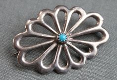 Navajo Sterling Turquoise Native American Brooch  // Sleeping Beauty by TheHiddenChamber on Etsy https://www.etsy.com/listing/76824284/navajo-sterling-turquoise-native