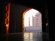 Doorway to palace in Agra, India. #travel #asia #places