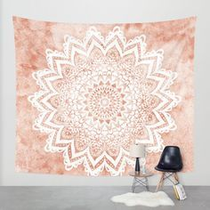 MANDALA SAVANAH Wall Tapestry by Nika
