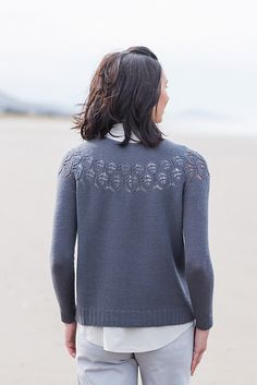 Ravelry: Adelaide pattern by Isabell Kraemer Lace Knitting, Knit Crochet, Knitting Patterns, Brooklyn Tweed, Long Sleeve And Shorts, Stockinette, Pullover, How To Wear, Clothes