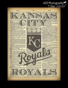 Kansas City Royals Dictionary page Photo Print by a2zphotography, $20.00 #KC #KansasCity #baseball