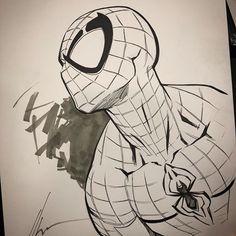 here - Marvel Comics Comics Spiderman, Spiderman Kunst, Spiderman Drawing, Marvel Comics, Spiderman Sketches, How To Draw Spiderman, Marvel Drawings, Cartoon Drawings, Art Drawings