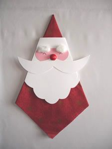 Nice napkins-decoration for the christmas-dinner
