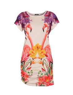 miS Pfeffer style: Flamingo-Palm Fashion Print