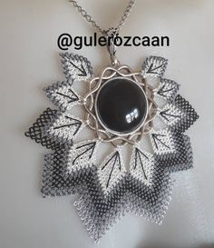 Siyah tasli kolyemiz de hazir Our black necklace is also ready # kol the lace Boncuklar Siyah tasli kolyemiz de hazir (Visited 12 times, 1 visits today) Seed Bead Projects, Needle And Thread, Needle Lace, Black Necklace, Bargello, All About Fashion, Seed Beads, Needlework, Pendants