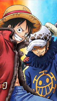 Luffy - Law  #onepiece