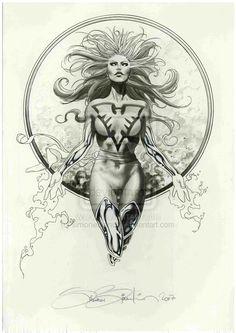 Dark Phoenix by Simone Bianchi Dark Phoenix, Phoenix Marvel, Jean Grey Phoenix, Marvel Comic Universe, Marvel Art, Ms Marvel, Captain Marvel, Batman, Marvel Drawings