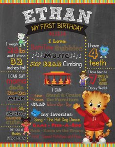 Daniel Tiger Chalkboard Sign - DIGITAL FILE ONLY by YourTimeToShine on Etsy https://www.etsy.com/listing/210675244/daniel-tiger-chalkboard-sign-digital