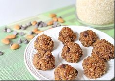 quinoa crack balls - mine would NOT stay together! need to try again sometime...