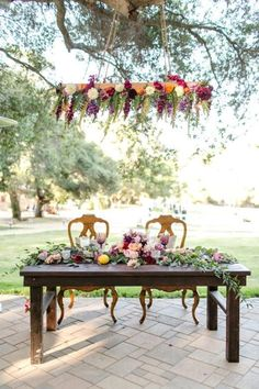 Sweetheart table - California Ranch Wedding Circle Oak Ranch - Rustic Wedding Chic