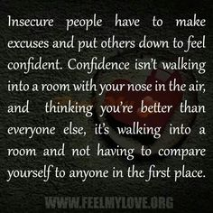 Insecure psycho exs always make excuses due to their insecurity