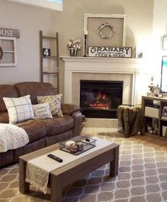 Get fantastic brown living room ideas on brown home decor and decorating with brown with these photos and tips. #brown living room #brown #living room