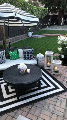 Creating the Perfect Outdoor Evening Party Space - HomeGoods Outdoor Kitchen Patio, Outside Patio, Outdoor Rooms, Outdoor Decor, Outdoor Living, Small Patio, Backyard Creations, Backyard Patio Designs, Backyard Retreat