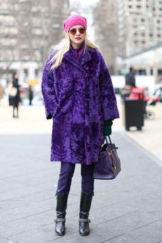 purple astrakhan and matching Birkin