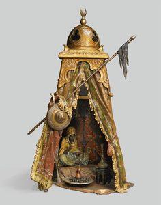 Franz Bergman, The Bedouin Tent, A table lamp. #Franz_Bergman #Orientalist