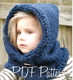 Knitting PATTERN-The Canyon Cowl (Child, Adult sizes)