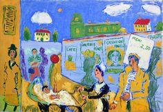Fikret MUALLA - (1903-1967) Gouache, Jacques Callot, Painter Artist, Bernard Shaw, Turkish Art, Modern Artists, Mixed Media Art, Impressionist, Paris