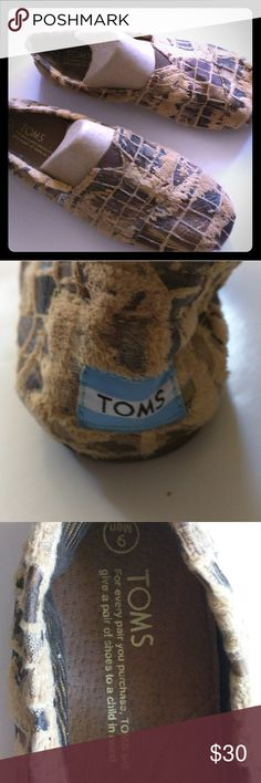 Toms classic sneaker, fur textured, mens size 9 Fur textured toms, never worn TOMS Shoes Loafers & Slip-Ons
