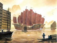 7.treasure ships:-Ming China sent out enormous goods of ship into the Indian Ocean, commande by the eunch admiral Zheng He. -Transmit China's peaceful message, bring gifts to China's neighbors. Tributary state system, bulid network support them.