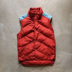 """80s Woolrich chevron pattern goose down vest, men's size S measures 21"""" pit to pit 30"""" long, $48+$12 domestic shipping. Call 415-796-2398 to purchase or PayPal afterlifeboutique@gmail.com and reference item in post."""