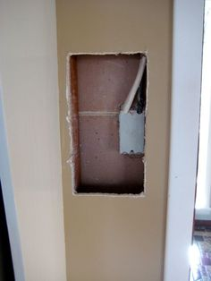 Patch a hole with drywall. This is for Alex and all the improvements that he is doing to our home