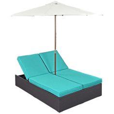 Convene Double Outdoor Patio Chaise EEI-2180