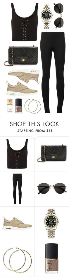"""Untitled #21696"" by florencia95 ❤ liked on Polyvore featuring Topshop, Puma, H&M, NIKE, Rolex, NARS Cosmetics and Yves Saint Laurent"
