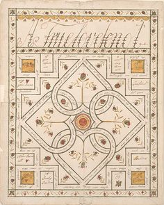 A True Love Knot Love Letter (Liebesbrief), ca. 1810 - ca. 1840