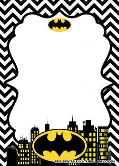 13 Mejores Imágenes De Invitaciones De Batman Invitaciones