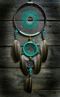 Aquamarine dream catcher hand made dreamcatcher by GetYourDreams