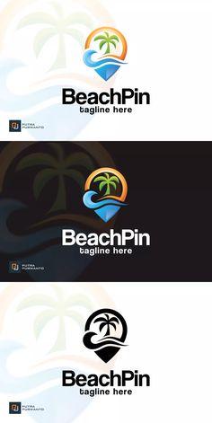 Beach Pin - Logo Template by putra_purwanto on Envato Elements Logos, Logo Branding, Branding Design, Logo Design, Water Icon, Beach Logo, Love Logo, Pin Logo, Shirt Print Design