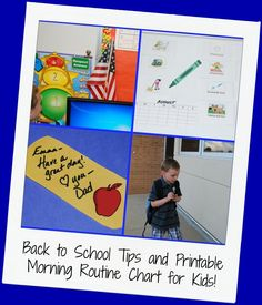 Printable Morning Routine Chart for a Hassle-Free Start to School