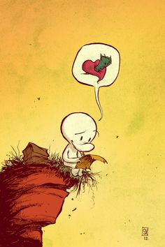 """I looove Skottie Young's work so much. Inspired by Jeff Smith's incredible series, """"Bone."""" Comic Book Artists, Comic Artist, Comic Books Art, Bone Comic, Character Illustration, Illustration Art, Jeff Smith, Art Beat, Young Art"""