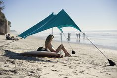 The perfect beach tent.  This sunshade is lightweight, stakeless, and SPF 50+, perfect for your next sunny destination!