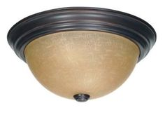 """Nuvo Lighting 60/3107 3 Light 15.3"""" Wide Flush Mount Ceiling Fixture with Champa Mahogany Bronze Indoor Lighting Ceiling Fixtures Flush Mount"""