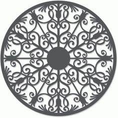 Silhouette Design Store - View Design #49309: wrought iron circle