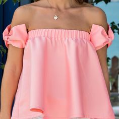 Flared top with bows Girly Outfits, Classy Outfits, Chic Outfits, Dress Outfits, Fashion Outfits, Young Fashion, Look Fashion, Girl Fashion, Flare Top