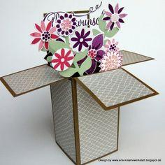 "Blumenvasenkarte oder ""#Boxinacard"" mit ""Flower Patch""   http://eris-kreativwerkstatt.blogspot.de/2015/02/blumenvasenkarte-oder-box-in-card-mit.html  #stampinup  #teamstampingart #teamsa #blumen #trickkarte"