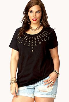 Star-Studded Tee | FOREVER21 PLUS - 2074921550 $19.80