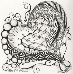 Zentangle - Heart and Soul | par weavergirlmn