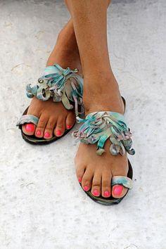 Обувь в стиле бохо от дизайнера Элины Линардаки