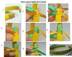fe8c38fb7 28 mejores imágenes de cintas | Bordado, Bordado de cinta de seda y ...