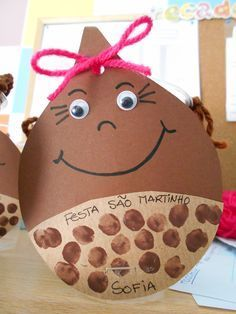 Risultato immagini per dia do animal Autumn Activities, Toddler Activities, Activities For Kids, Diy For Kids, Crafts For Kids, Acorn Crafts, Fall Fruits, Fall Projects, Jingle All The Way