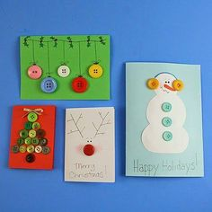 Button holiday cards