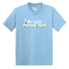 My Lucky Hunting Shirt Easter Toddler Little Boy TShirt Gift Pretend NEW!  #Tcombo