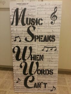 Diy music canvas decor