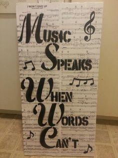 Diy music canvas decor