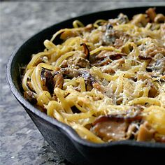 Meatless Monday: Baked Mushroom Linguine