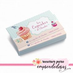 Diseño de tarjeta personal para pastelera, repostera estilo acuarela / Recursos para emprendedoras Bakery Branding, Bakery Logo Design, Branding Design, Bakery Business Cards, Business Card Design, Bakery Decor, Dessert Illustration, Visiting Card Design, Logos Cards