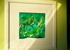 Acrylmalerei - abstraktes Bild, grün, gold, Acryl, gerahmtes Bild - ein Designerstück von Atelier-Melanie-Landgraf bei DaWanda, Weihnachtsgeschenk, Bild, gold, blau, weiß, grün, gerahmtes Bild, weißer Rahmen, weißer Bilderrahmen, Malerei, abstrakte Kunst, Acrylmalerei - Bild, abstrakt, Tulpe, Blume, Acryl - ein Designerstück von Atelier-Melanie-Landgraf bei DaWanda, Geschenk für Mama, Geschenkidee, Geschenk für Freundin, beliebte Weihnachtsgeschenke, Unikat, Ikea, edles Geschenk, besonder
